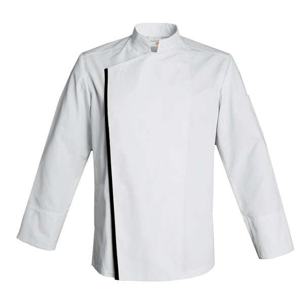 FIRENZE affordable high quality men's chef jacket, white long sleeve with CYOU customization
