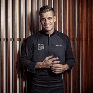 FORZA men's black executive chef jacket with lightweight hybrid dry-up material