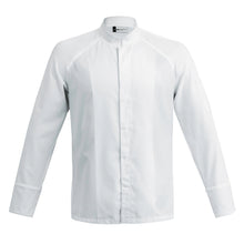 FORZA men's high quality hybrid chef jacket with dry-up materials, white long sleeve