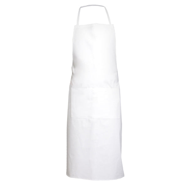 GENIEVRE white 100% cotton bib apron