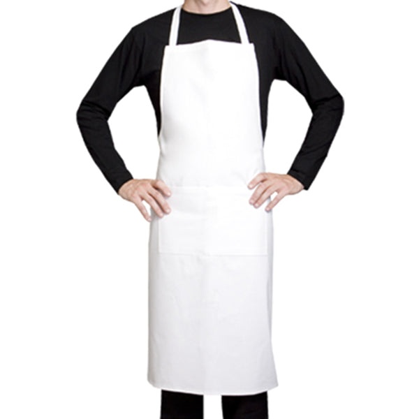 100% white cotton bib apron from Clement Design