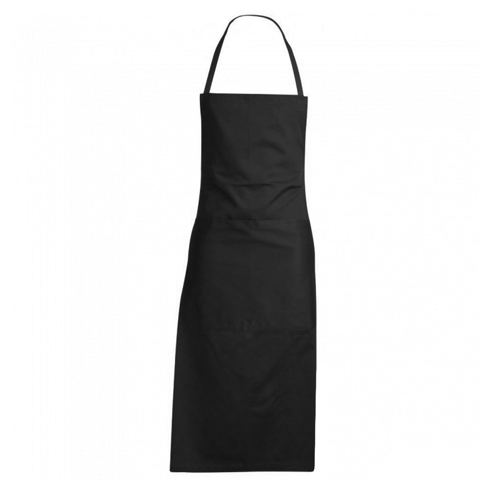 GIROFLE black 100% cotton bib apron