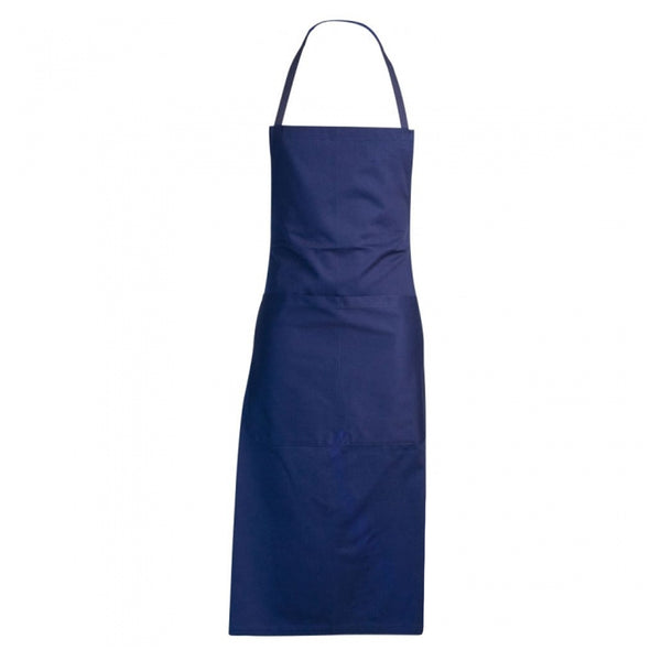 GIROFLE blue 100% cotton bib apron