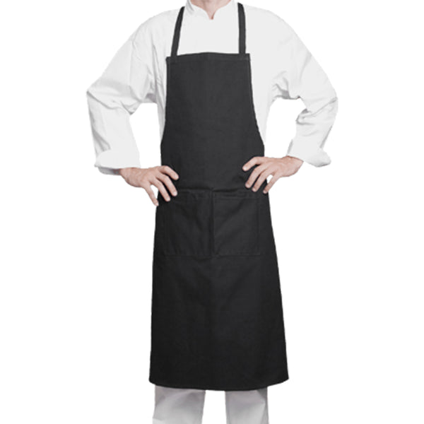 100% black cotton bib apron from Clement Design