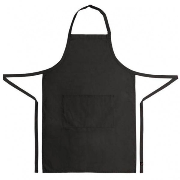 black bib apron 100% cotton from Clement Design