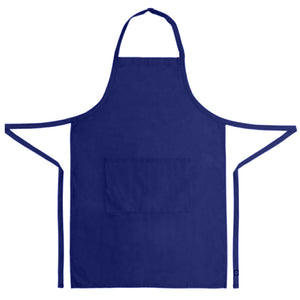 navy blue bib apron 100% cotton
