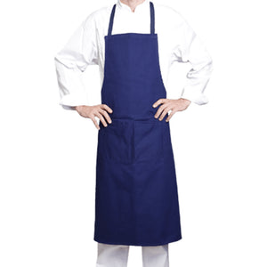 100% blue cotton bib apron from Clement Design