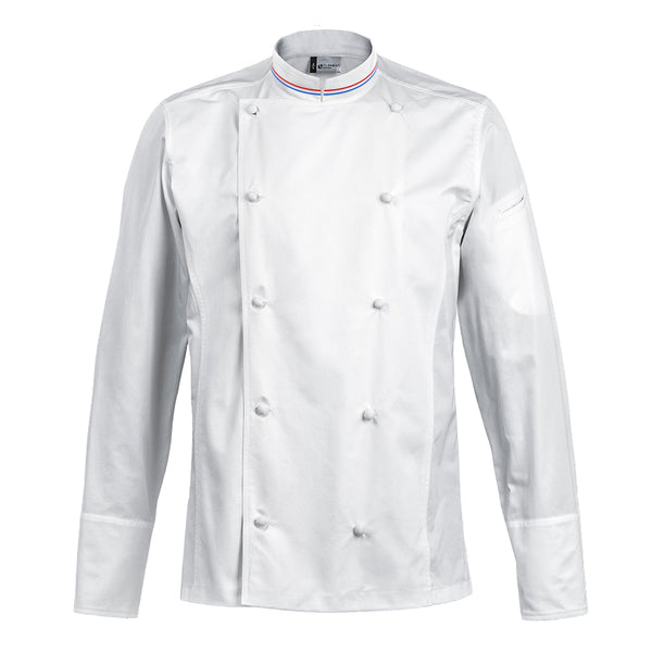 HERITAGE classic style 100% premium egyptian cotton chef jacket with handmade buttons and MOF collar