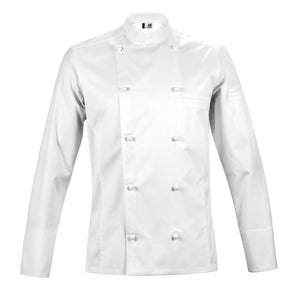 HERITAGE classic style 100% premium egyptian cotton chef jacket with handmade buttons
