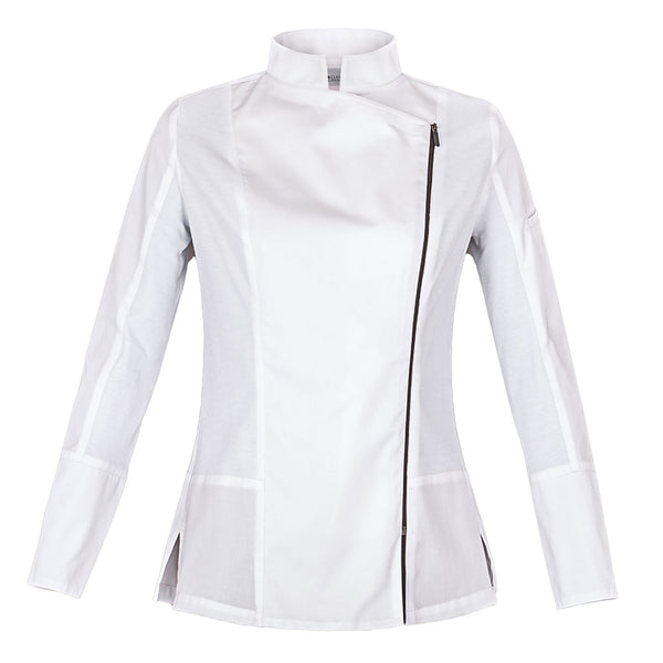 ICONIC side zip chef jacket for women