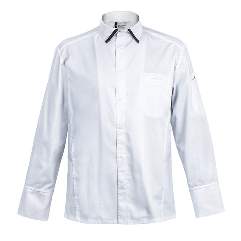 IMPERIA men's French chef coat, white