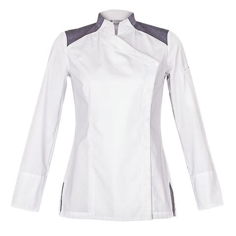 INDIANA women's chef jacket with denim shoulders