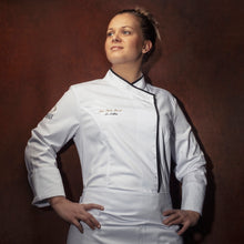 INTUITION women's white long sleeve chef coat with CYOU