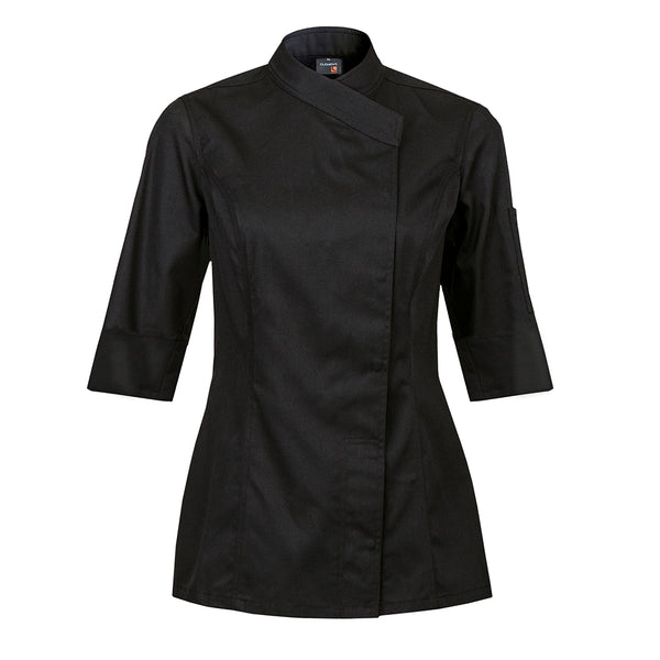 INTUITION women's black short sleeve chef coat