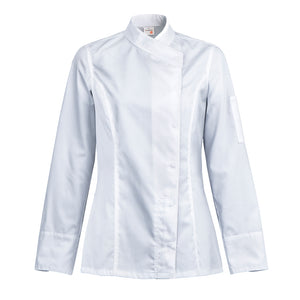 INTUITION kimono collar chef jacket long sleeve white