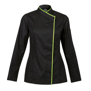 INTUITION kimono collar chef jacket long sleeve black with CYOU customization