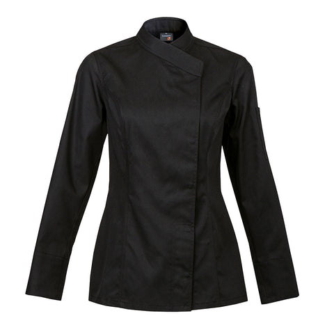 INTUITION kimono collar chef jacket long sleeve black