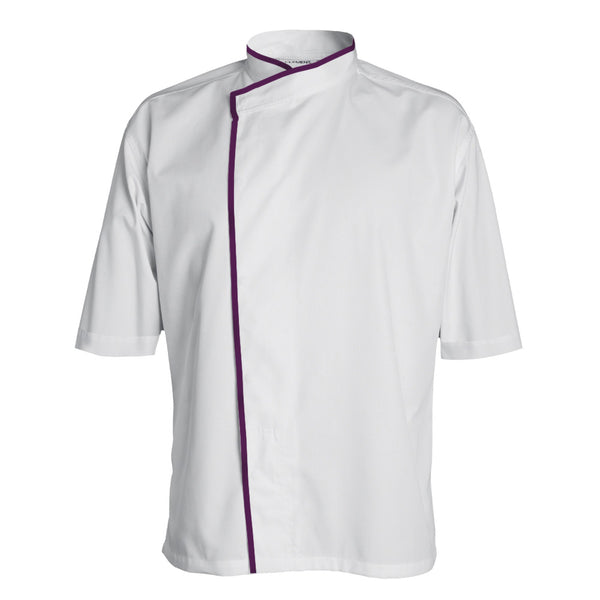 MADISON long sleeve white double breasted chef coat with CYOU customization