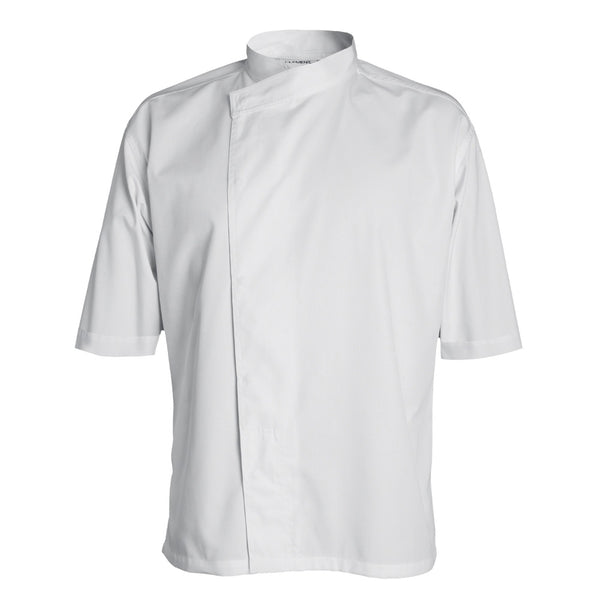 MADISON short sleeve double breasted kimono collar chef coat