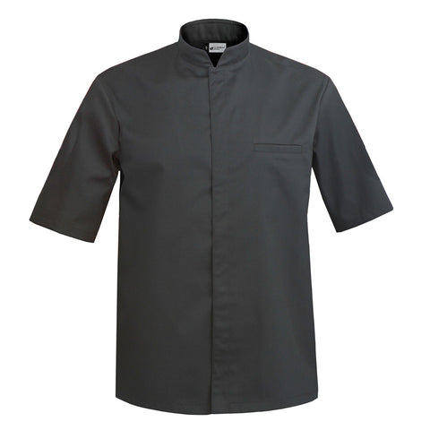 MANTOVA short sleeve black center snap executive chef jacket