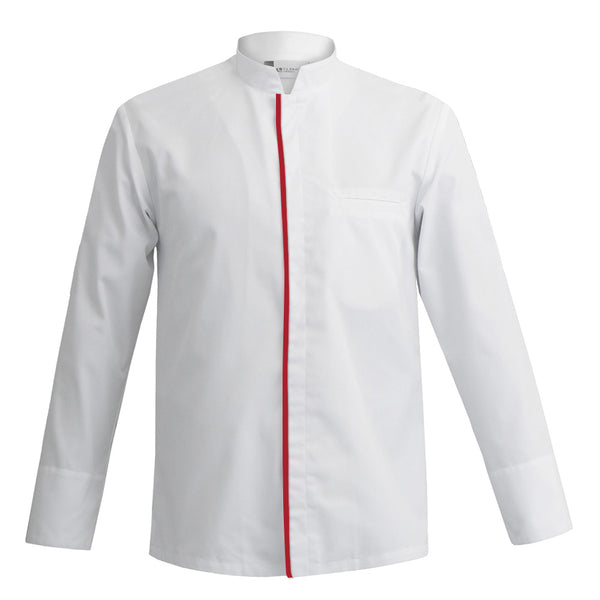 MANTOVA long sleeve white professional chef jacket for men with CYOU customization