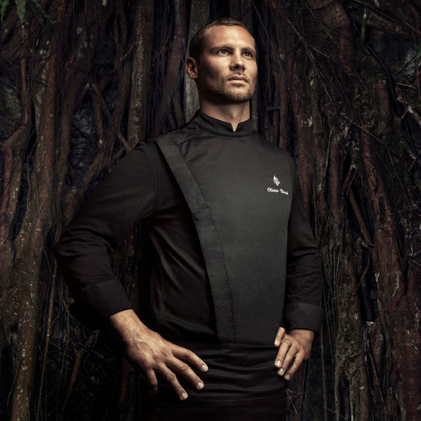 C-ONE premium black long sleeve chef jacket