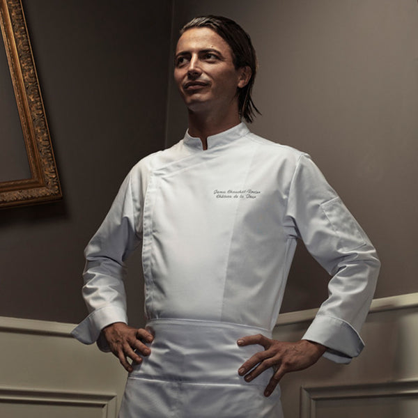 FIRENZE affordable men's long sleeve white chef jacket