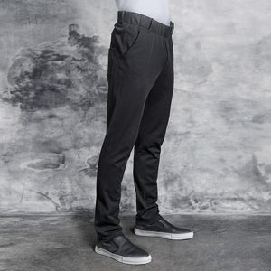 MOOV fitted jersey chef pants with elastic waistband
