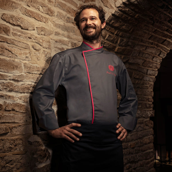 MURANO cotton and polyester blend chef jacket
