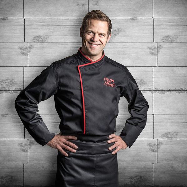 MURANO black long sleeve chef jacket