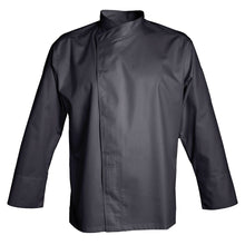 MURANO charcoal colored polyester and cotton blend chef jacket