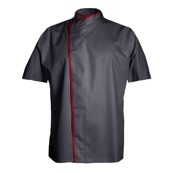 MURANO short sleeve grey chef jacket with CYOU customization