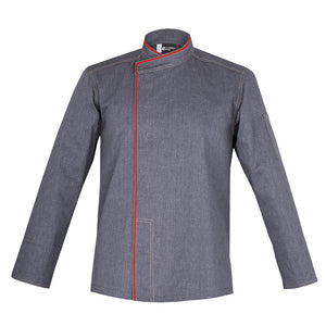 MURANO long sleeve denim chef jacket with CYOU customization