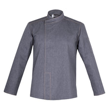 MURANO best denim men's chef jacket with long sleeves