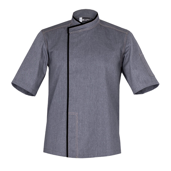 MURANO short sleeve denim chef jacket with CYOU customization