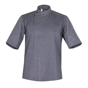 MURANO best denim chef jacket with short sleeves