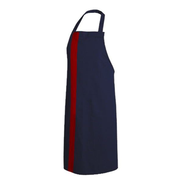PAPRIKA navy blue bib chef and service apron with CYOU customization