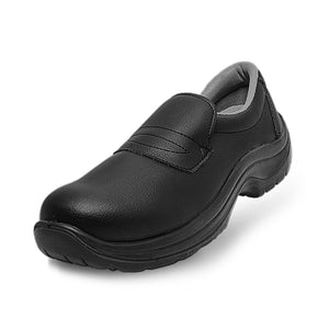 PREMIUM black French chef safety shoe with steel toe