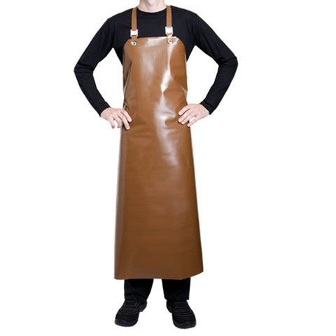 SAFRAN polyurethane brown chocolate apron