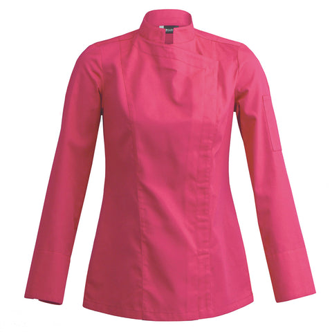 SIENNE fuschia fitted womens chef jacket