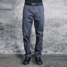 denim chef pants with adjustable belt