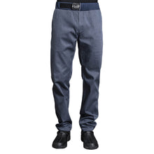 SIROCCO men's modern style denim chef pants with adjustable belt