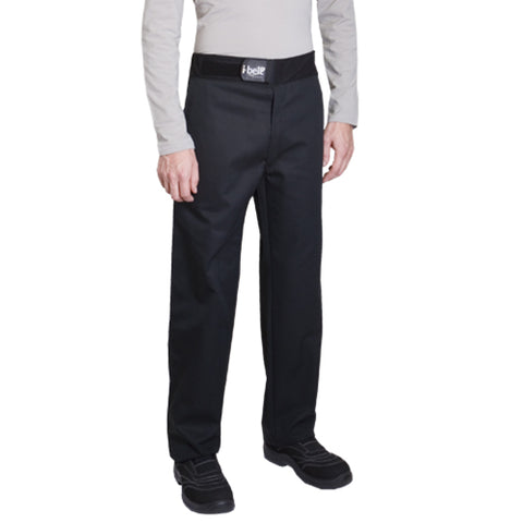SIROCCO polycotton black chef pants for men