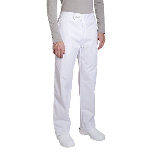 SIROCCO polycotton white chef pants for men