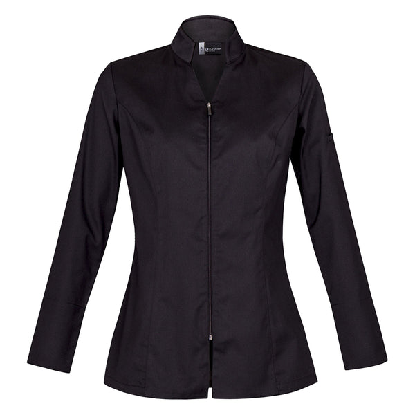 SKINNY women's french center zip hybrid chef and service jacket