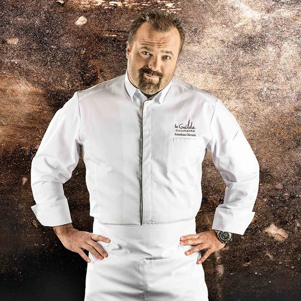 SQUADRA white long sleeve chef jacket for men
