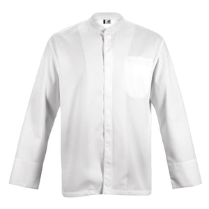 TIME long sleeve white honeycomb material chef jacket