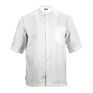 TIME short sleeve white honeycomb material chef jacket