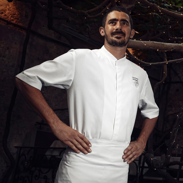 TIME short sleeve chef jacket, honeycomb material