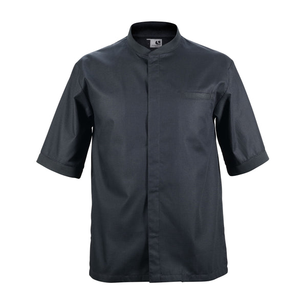TIME short sleeve black honeycomb material chef jacket